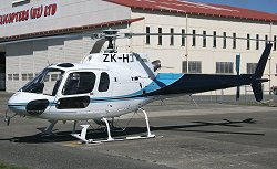 AS350 Helicopter with GPS Track Monitor